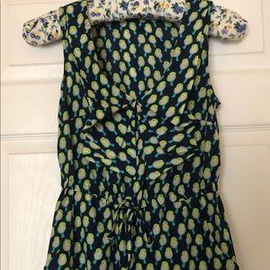 Anthropologie Dresses - Bebop Green Bird Print Front Tie Dress S